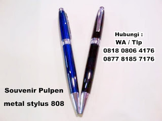 Pen Metal Stylus 808, Pulpen Metal, PULPEN STYLUS BB808, Barang Promosi Custom Pen Metal Stylus 808, Pulpen 2 fungsi, Bolpoin + Stylus pen, Stylus Pen 2in1 yang kami jual dengan Harga Grosir termurah