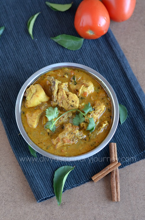 Easy to make chicken curry for rice, roti