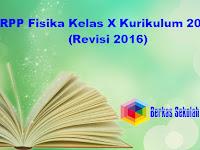 RPP Fisika Kelas X Kurikulum 2013 (Revisi 2016)