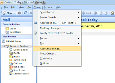Cara Setting Email Gmail di Microsoft Office Outlook