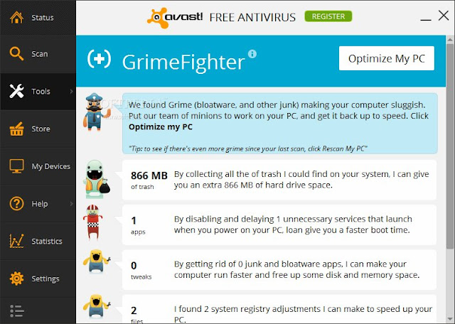 Avast! GrimeFighter Free Download