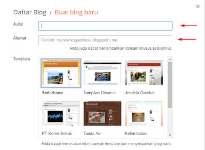 Cara Daftar Blog Di Blogspot