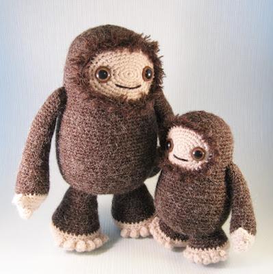 Lucyravenscar Crochet Creatures Yeti And Bigfoot