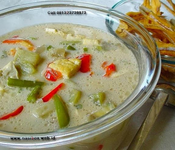 Resep sayur lodeh nasi box kawah putih ciwidey
