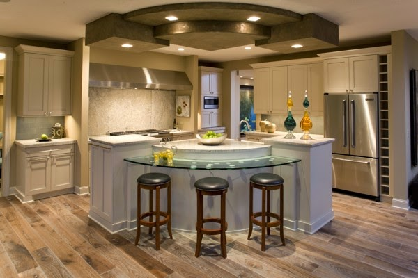 Decoraci n de cocinas modernas con islas ideas para decorar Decoracion de cocinas pequenas con islas