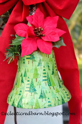 Eclectic Red Barn: Dollar Tree Bell - dressed up
