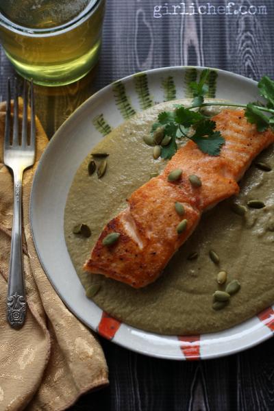 Salmon in Pipián Verde