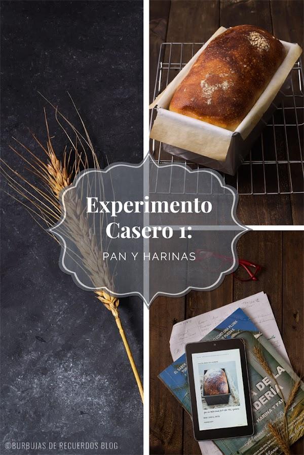 Experimento Casero #1- HARINAS: 01 pan, 03 variaciones de harinas y 03 resultados
