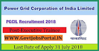 Power Grid Corporation of India Limited Recruitment 2018- 25 Executive Trainee