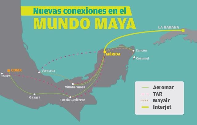 Yucatán, conectado con el sur-sureste y el Caribe