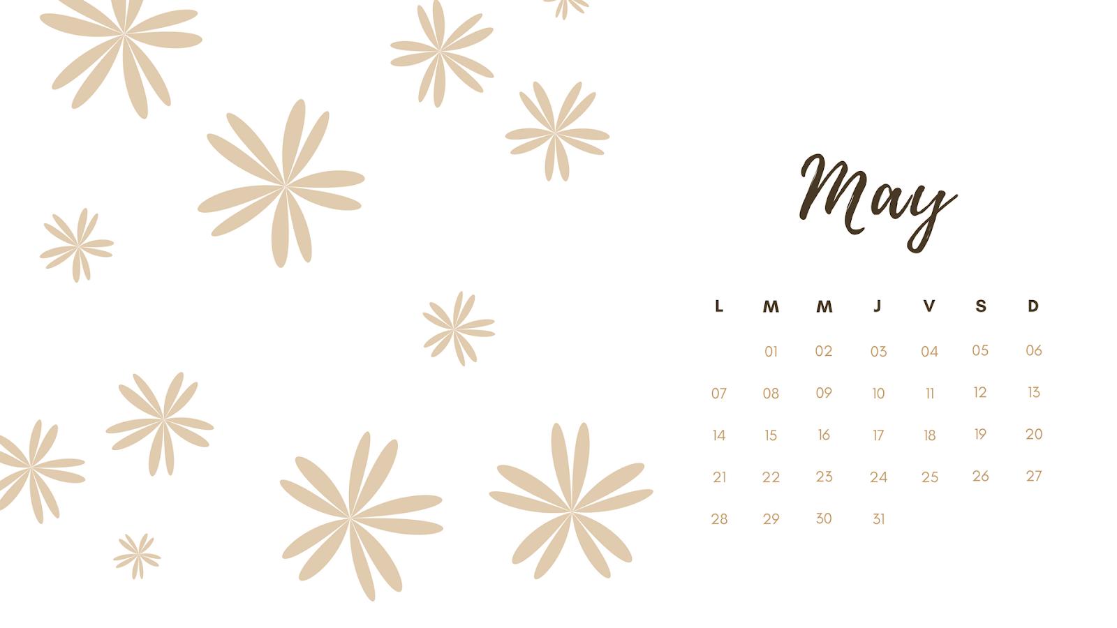 Calendarios para descargar Mayo 2018 wallpaper bonito
