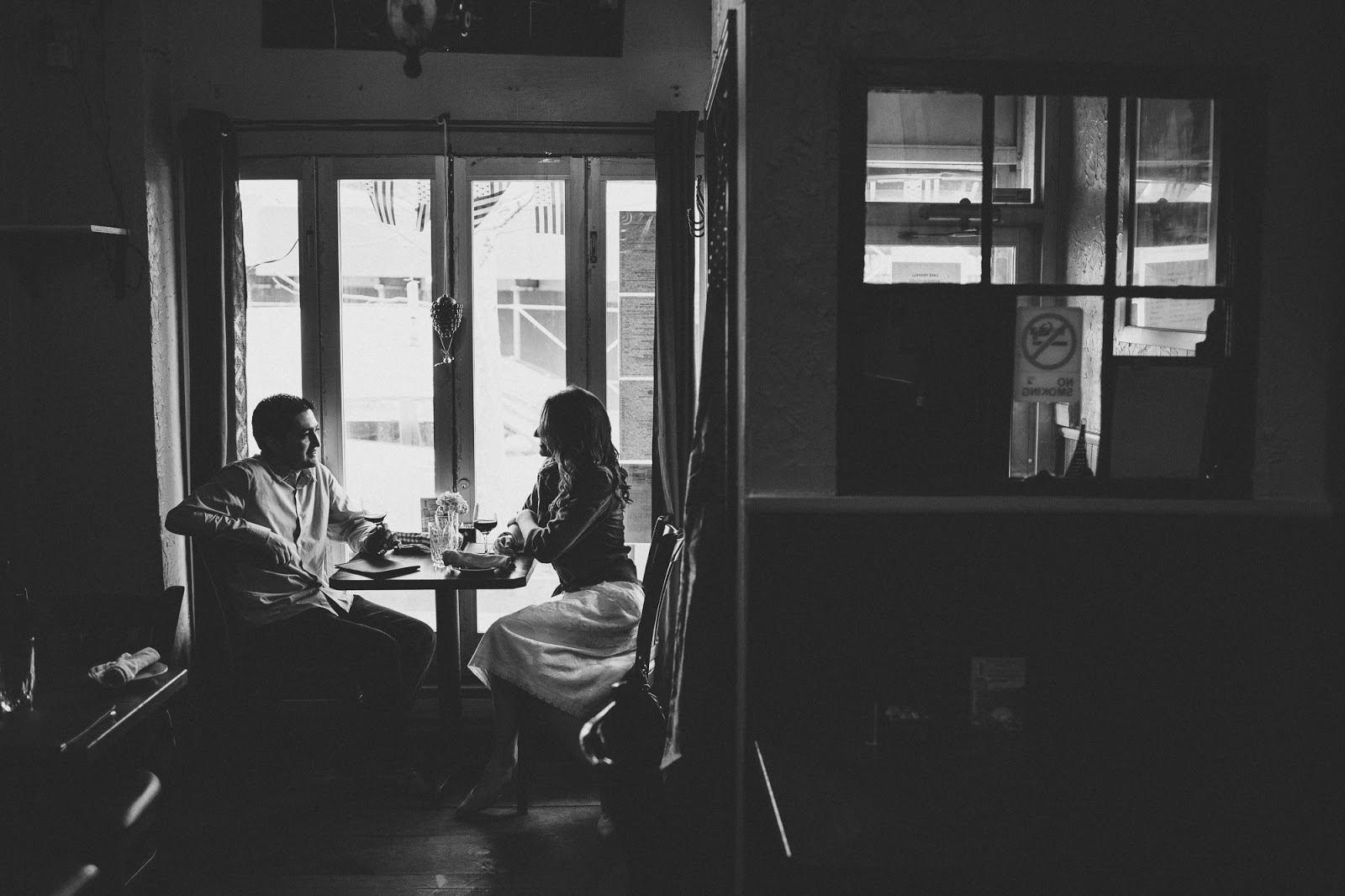 Astoria Engagement Photos at Cafe Triskell | Documentary wedding photography by Cassie Castellaw