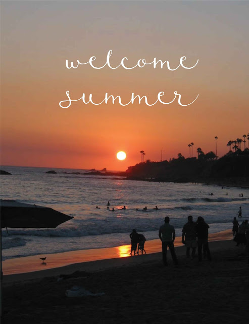 Welcome, Summer-sunset-over-beach-via blog-beau-monde