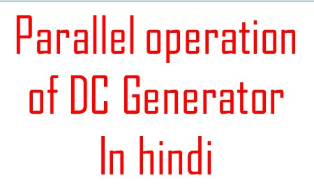 Paralles Operation of D.C Generators
