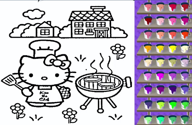 Hello Kitty Coloring Pages  Online Coloring Games For Kids