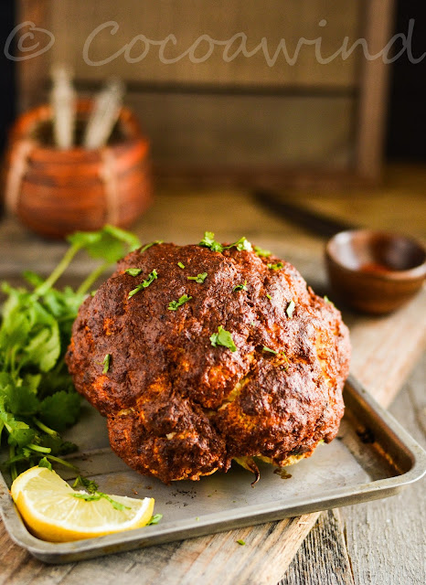 Whole Roasted Tandoori Cauliflower