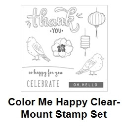 Color me Happy stamp set, Stampin'Up!, Frenchiestamps,