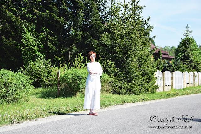 TOSAVE.COM - piękna, biała sukienka z koronką :)