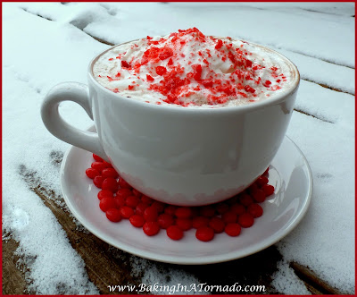 Red Hot Cocoa: Delicious hot chocolate infused with a bit of cinnamon spicyness and a kick of liqueur. Perfect for Valentine's Day | Recipe developed by www.BakingInATornado.com | #recipe #drink #ValentinesDay