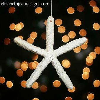 Starfish Salt Dough Christmas Ornament