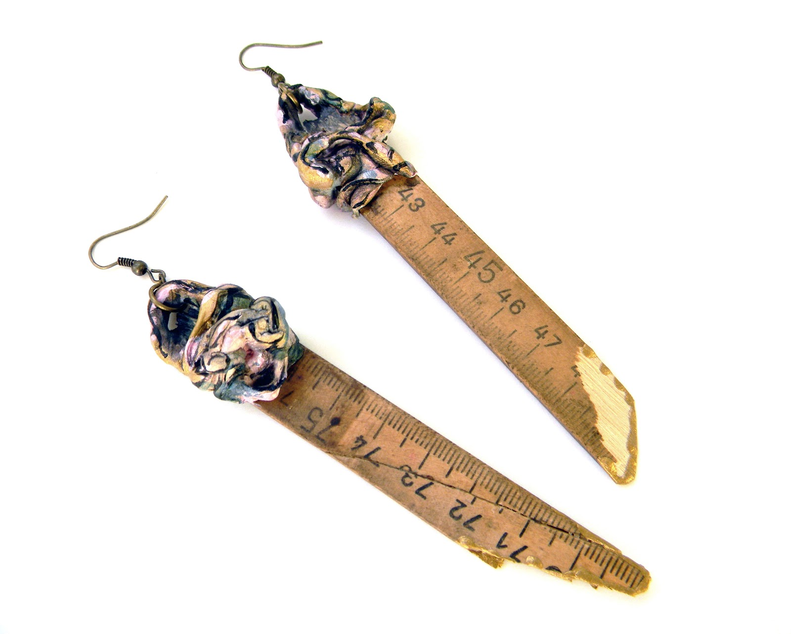 Handmade Earrings Steampunk Vintage Jewelry