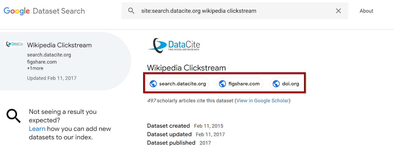 Google dataset search - a reflection on the implications