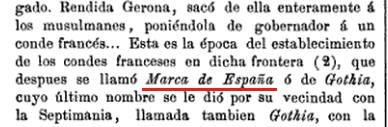 """Que Cataluña es española ya lo sabemos, pero que llegaran a llamarla """"Marca de España"""" no tanto. * Narciso Blanch e Illa: Crónica de la provincia de Gerona, 1866"""