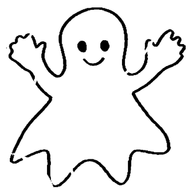 Moldes De Fantasmas Para Halloween Formando Alunos