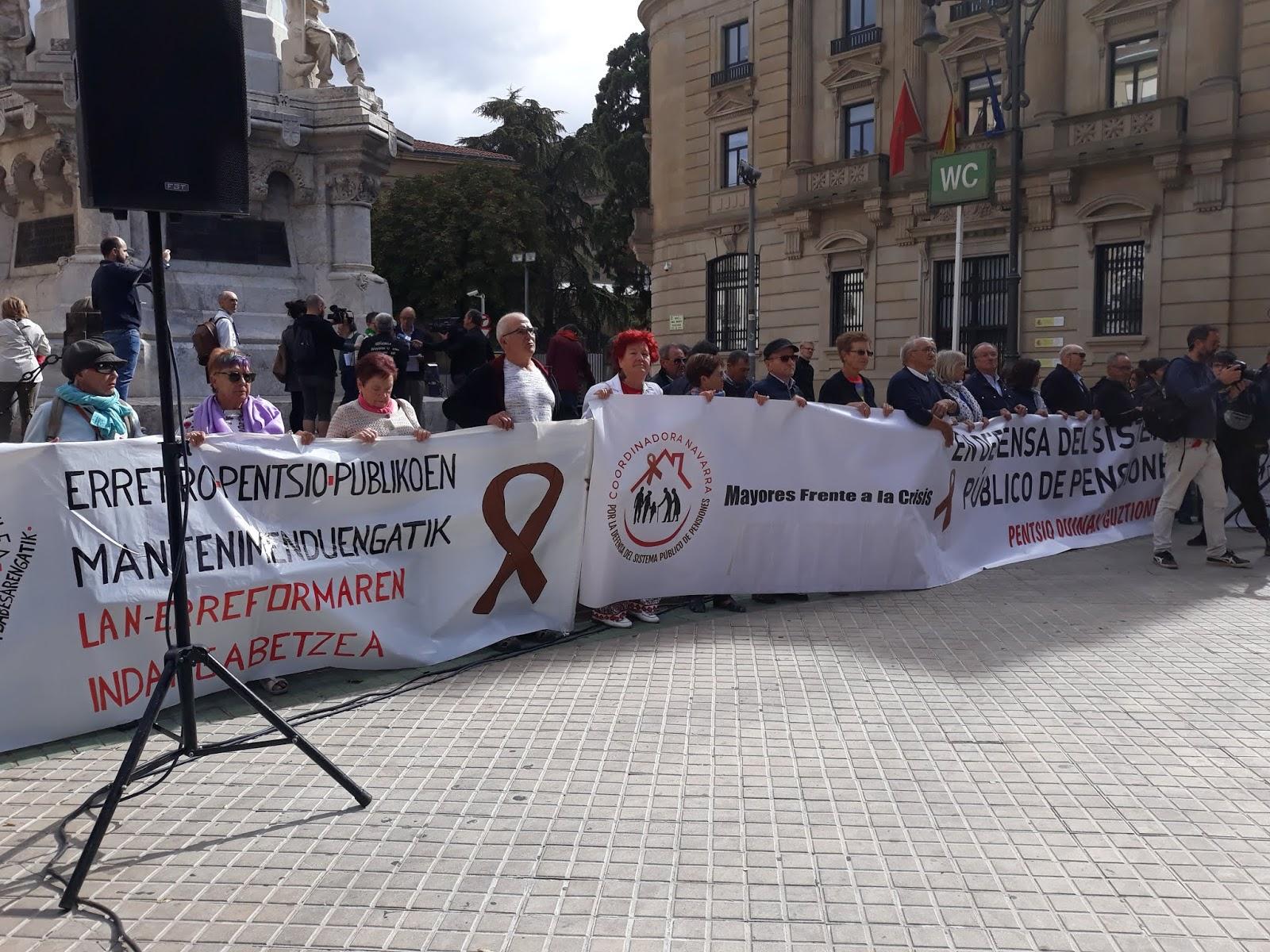Manifestación 1-O en defensa del sistema público de pensiones