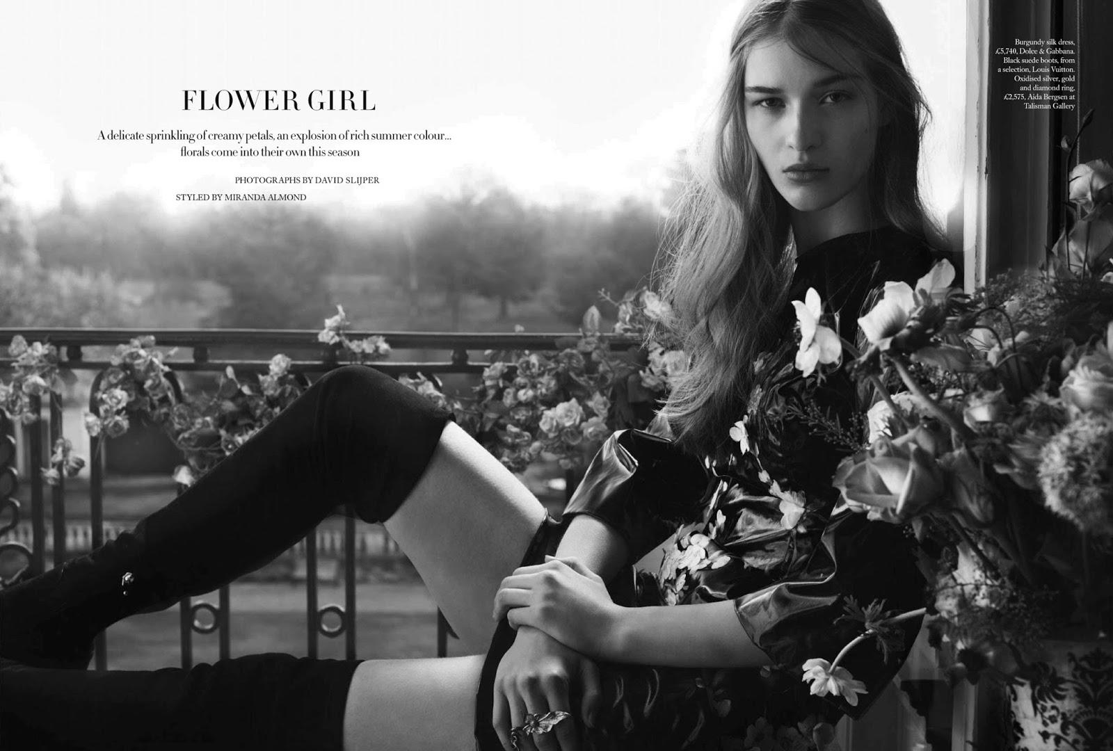 999e7579a465 Elena Bartels in Harper s Bazaar UK May 2014 by David Slijper