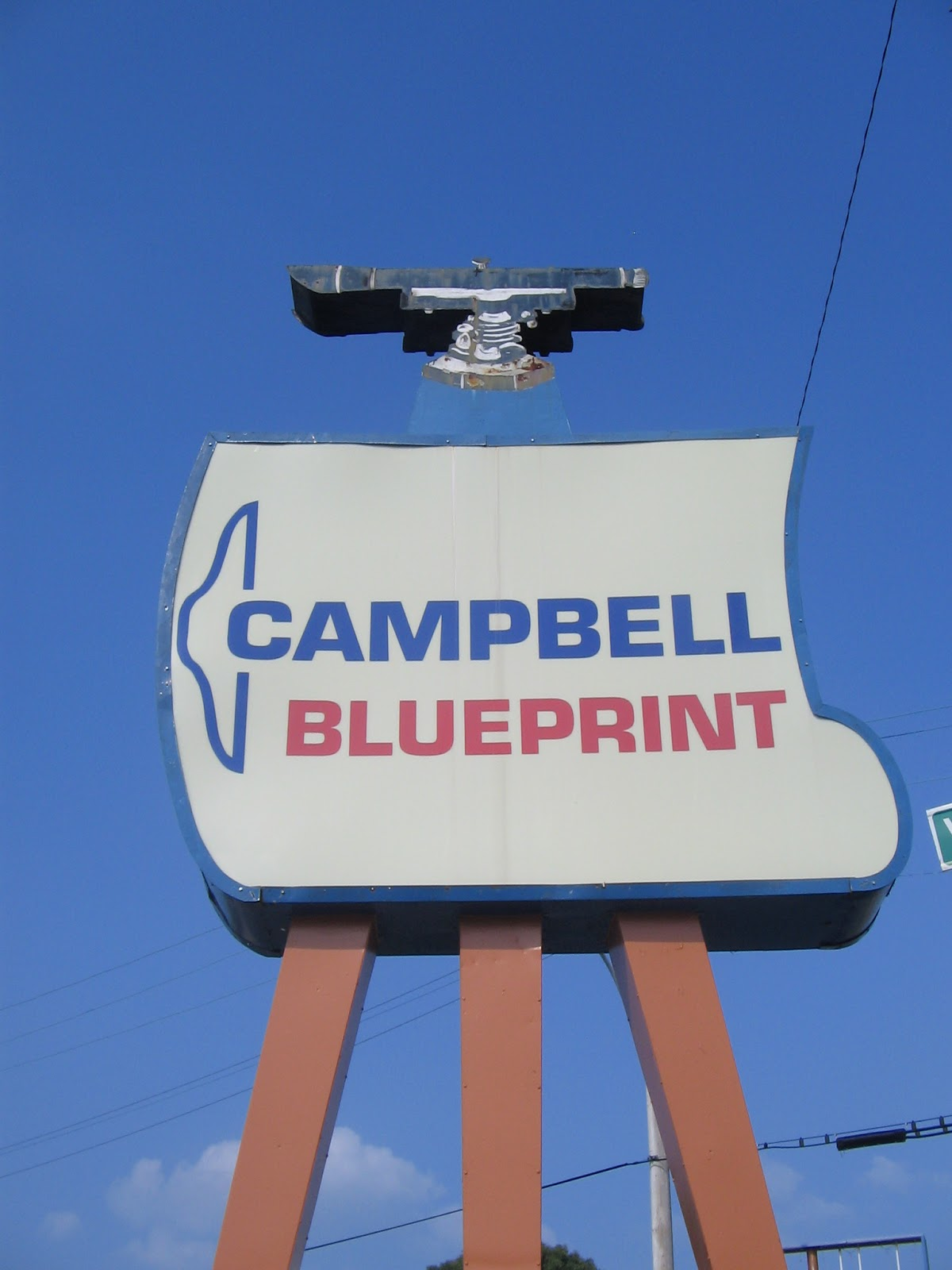 Crme de memph january 2017 campbell blueprint now known as campbell surveying co was formerly on broad ave with this sign that clearly indicated its two specialities malvernweather Images