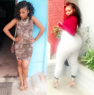 See Photo Of Skinny Nigerian Lady Turned Bootylicious Causing Traffic Online