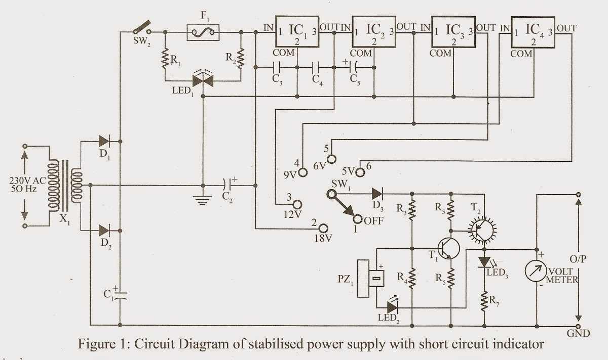 Amazing Stabilized Power Supply With Short Circuit Indication Simple Wiring Cloud Pendufoxcilixyz