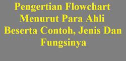 Pengertian Flowchart Menurut Para Ahli Beserta Contoh, Jenis Dan Fungsinya