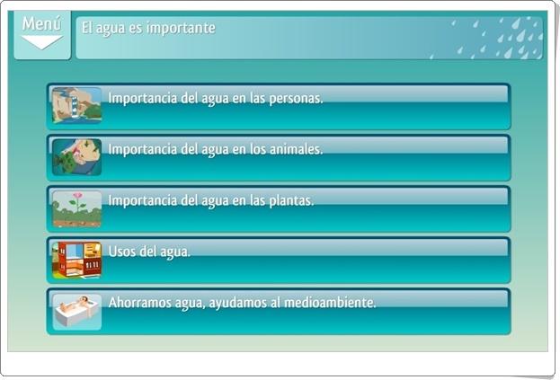 """""""El agua es importante"""" (Aplicación interactiva de Ciencias Sociales de Primaria)"""