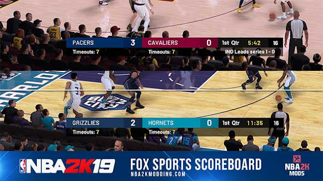 NBA 2K19 FOX Sports Scoreboard