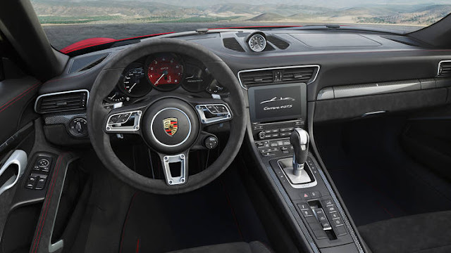 Best one 2017 Porsche 911 Carrera GTS coupe interior dashboard view