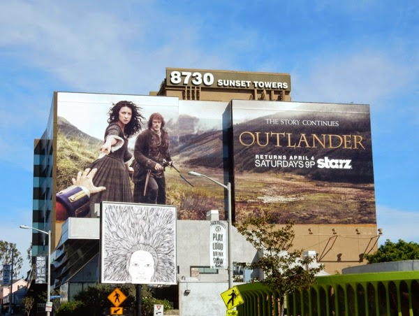 Giant Outlander midseason 1 Starz billboard