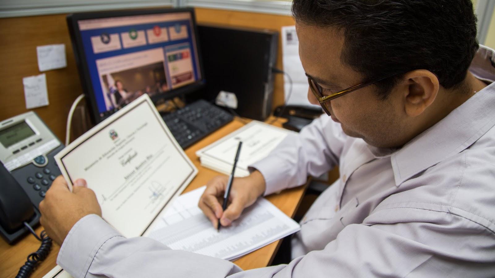 República Digital transforma servicios de educación superior; ya se puede solicitar en línea certificación y legalización de documentos