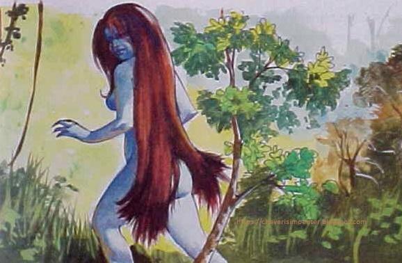 Pintura de una Siguapa: creencias raras del dominicano