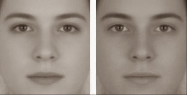 Awesome Illusions That May Make Your Brain Explode - Which face is male and which is female? Wrong, they're the same androgynous face.