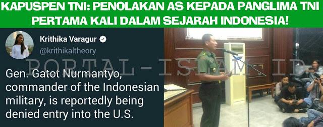 Kapuspen TNI: Penolakan AS Terhadap Panglima TNI Adalah yang Pertama Sepanjang Sejarah Indonesia