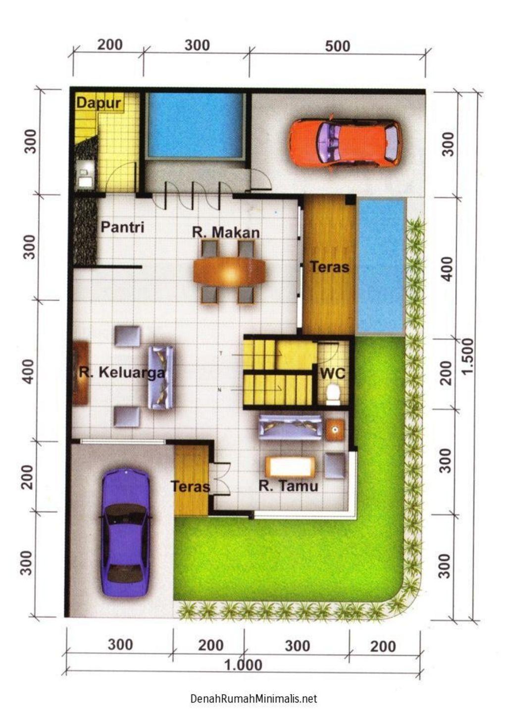 bentuk denah rumah type 36 hook idaman
