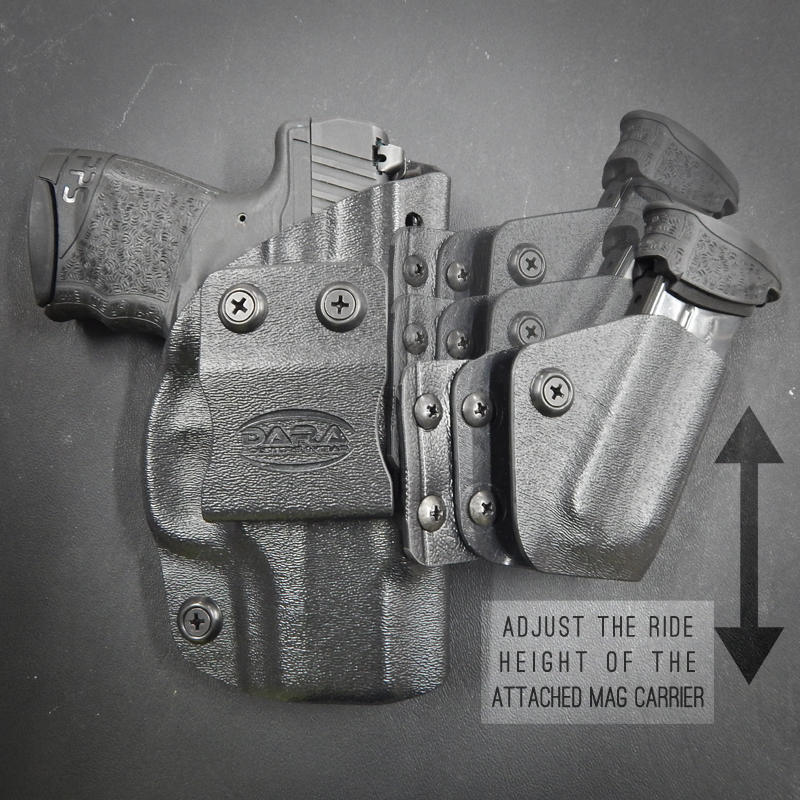 Dara Holsters: Appendix Rig: AIWB Holster with Attached Mag