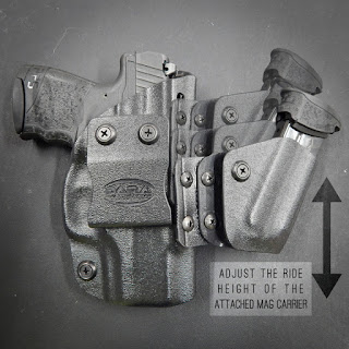Appendix Rig: AIWB Holster and Mag Carrier Combo, Sidecar Holster, trex arms sidecar, t rex arms sidecar, sidecar, sidecar mag caddy holster, appendix holster with sidecar