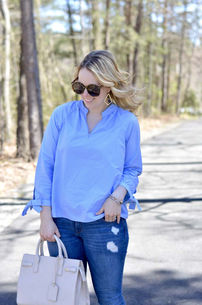 Spring Stripe Top Outfit @rachmccarthy7