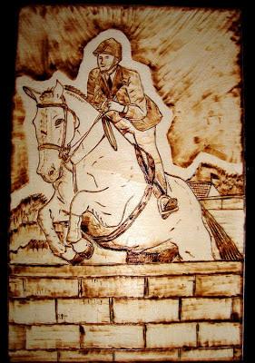 pirogravura de cavalo