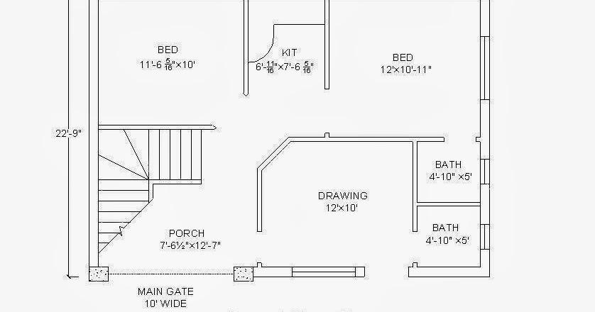 3 Marla House Plan 3 Marla House Map 31 39 9 22 39 9 House Plan