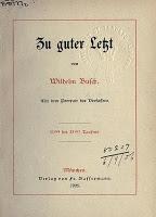 Freihandbuch Freebook Wilhelm Busch Zu Guter Letzt