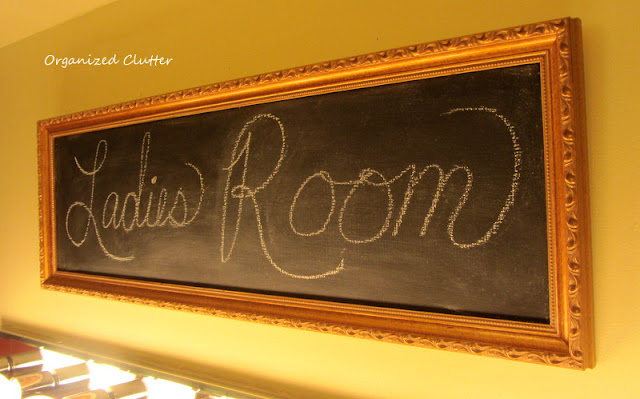 Chalkboard Ladies Room Sign